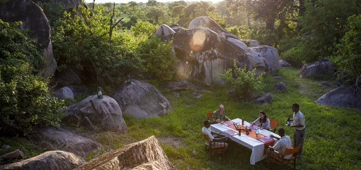 Breakfast at Ruaha Game Reserved park